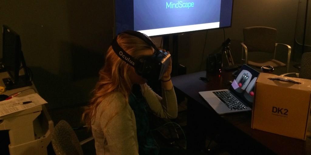 Woman Wearing Oculus Mindscape