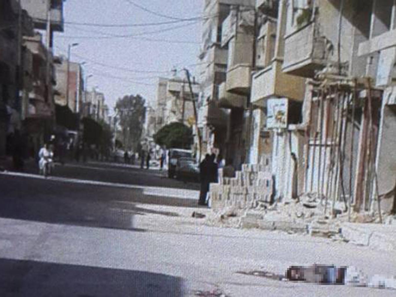 The streets of Palmyra after Isis swept through the city