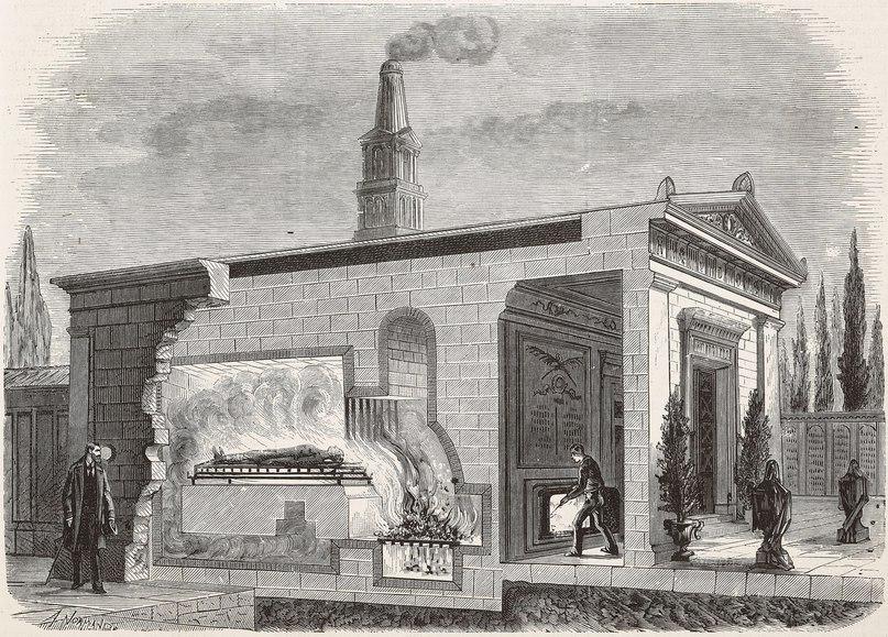 Печь для сжиганий Гаринис, Милан, Италия. Изображение из журнала L'Illustration, №1965, том 76, от 23 октября 1880. GETTY IMAGES
