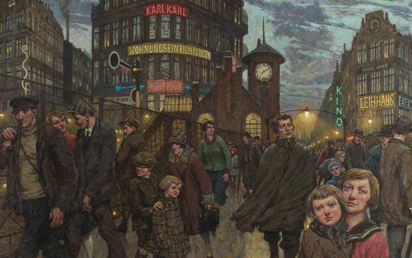 Ганс Балушек,Großstadtlichter(1931). Фото Майкла Сецфандта