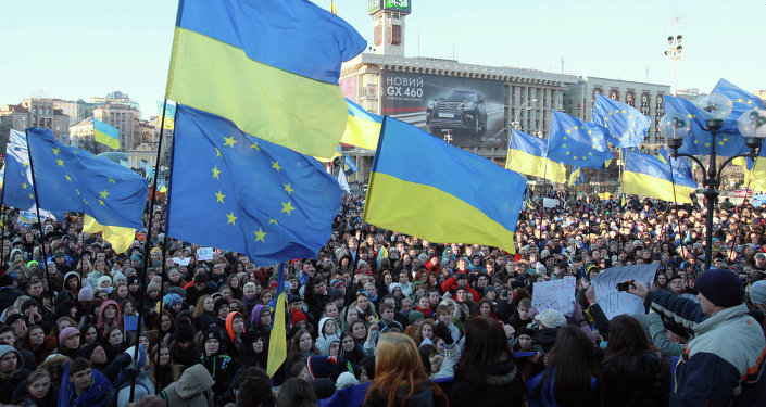Rally in Ukraine in support of EU integration