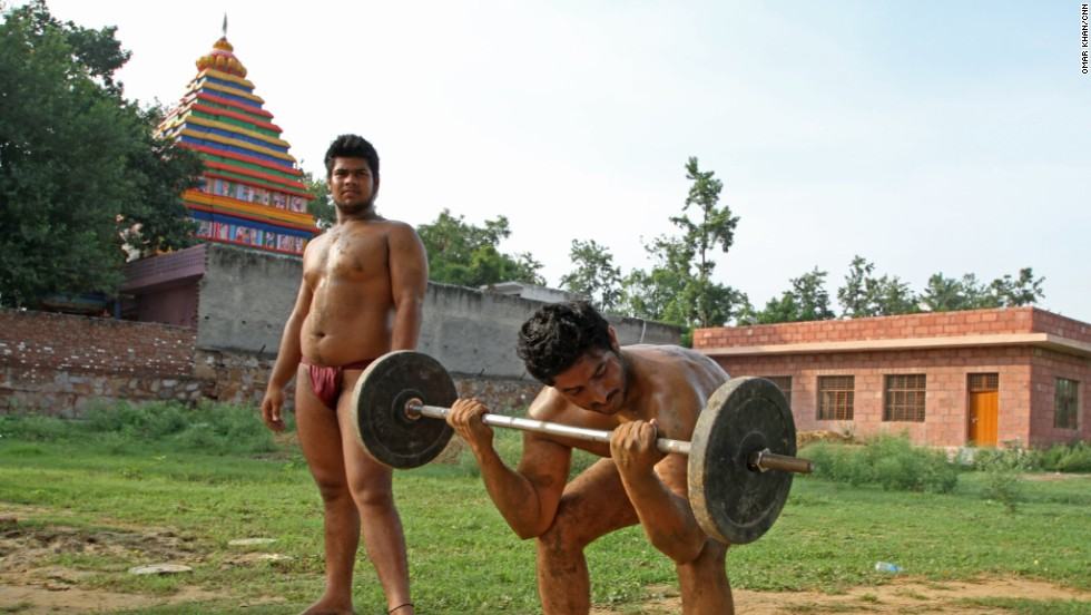 The village is a farming community by tradition, but nearly all the men have a passion for wrestling and bodybuilding.