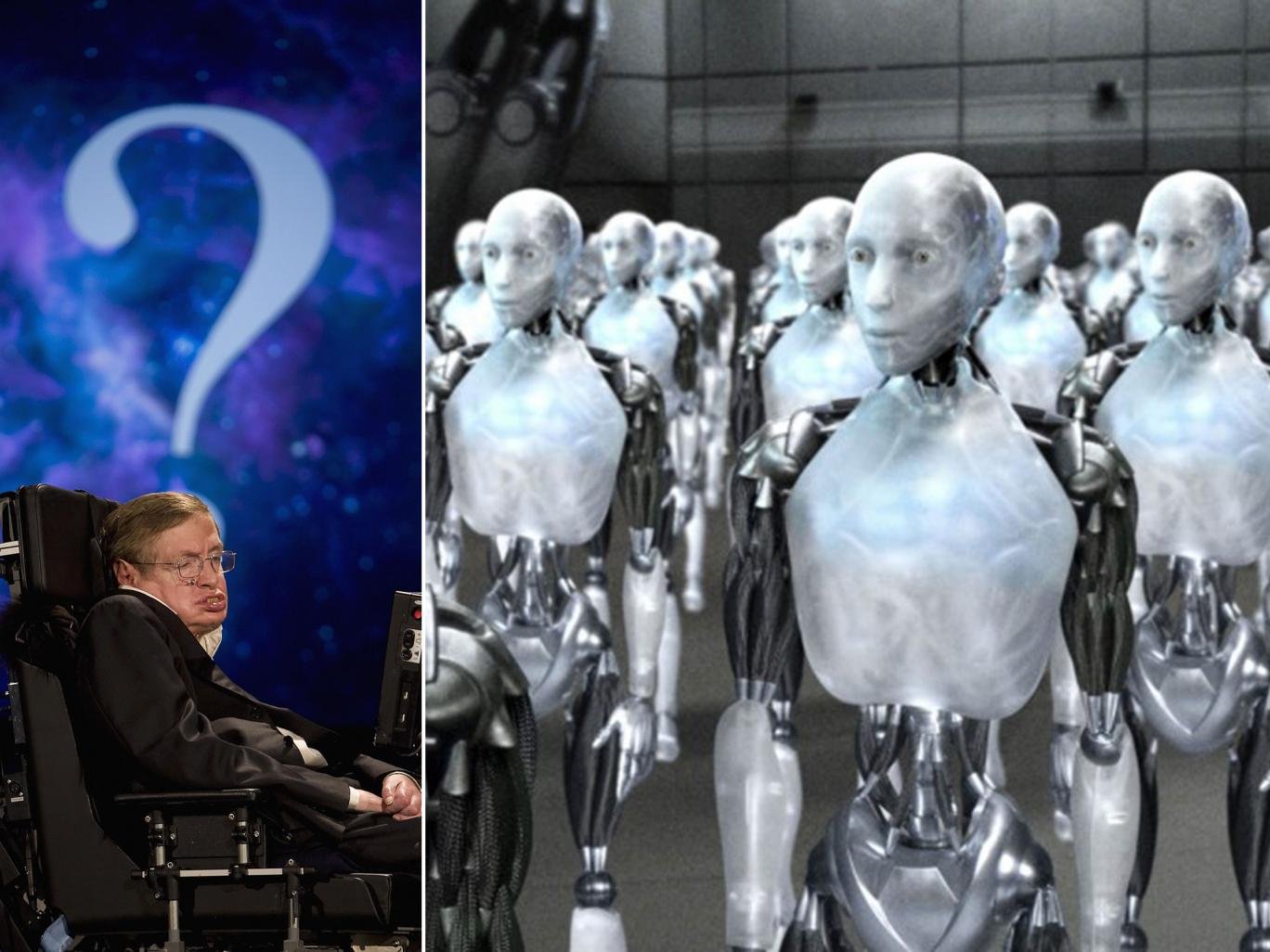 Stephen Hawking and out of control computers from I, Robot