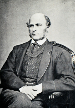 Francis Galton (1822-1911) was an English scientist and cousin of Charles Darwin. His work covered the areas of meterology, colour blindness, fingerprint identification and mental imagery. He was the founder of eugenics, the science of using controlled breeding to increase the occurence of desirable heritable charactersitics in a population.