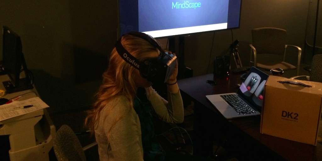 Woman Wearing Oculus Mindscape
