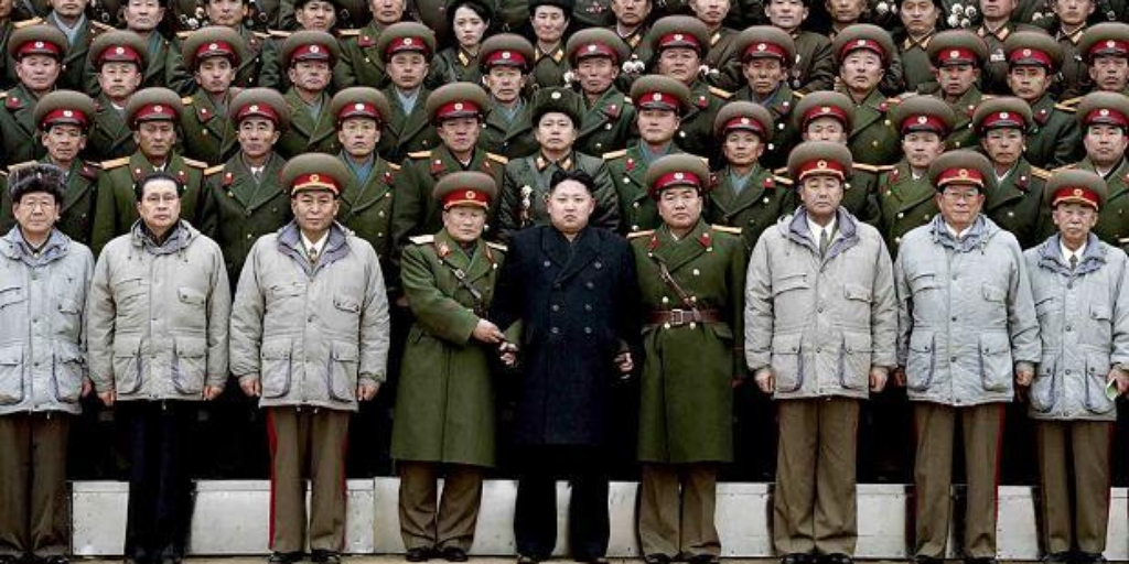 King Jong-Un and North Korean Army