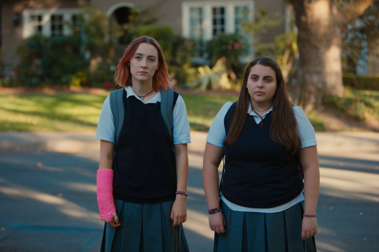 "Beanie Feldstein and Saoirse Ronan in ""Lady Bird"""