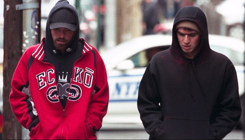 "Robert Pattinson and Benny Safdie in ""Good Time"""