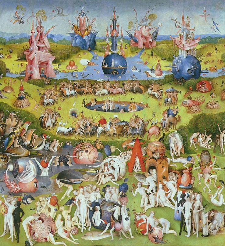 Сцена странной одержимости… Сад земных наслаждений, Иероним Босх. Источник: Heritage Images/Getty Images